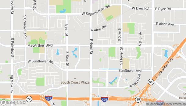 Map of 3711 S Bristol in Santa Ana