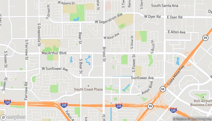 Map of 3711 S Bristol in Santa Ana