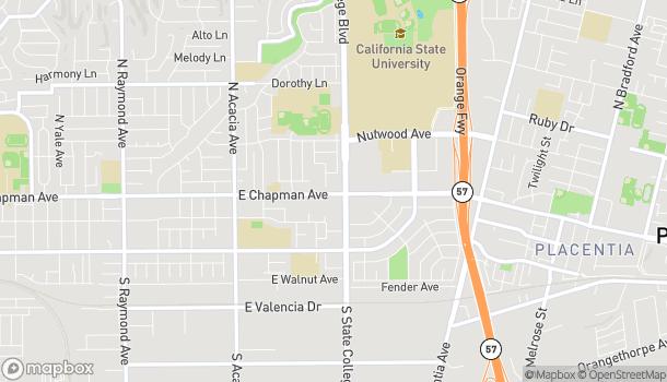 Map of 2323 E Chapman Rd in Fullerton