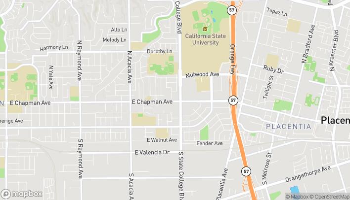 Mapa de 2323 E Chapman Rd en Fullerton