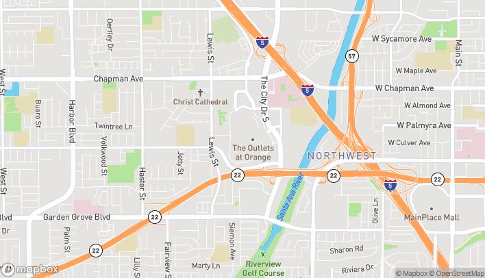 Mapa de 20 City Blvd en Orange