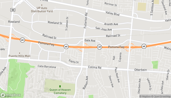 Map of 1390 S Fullerton Rd in Rowland Heights