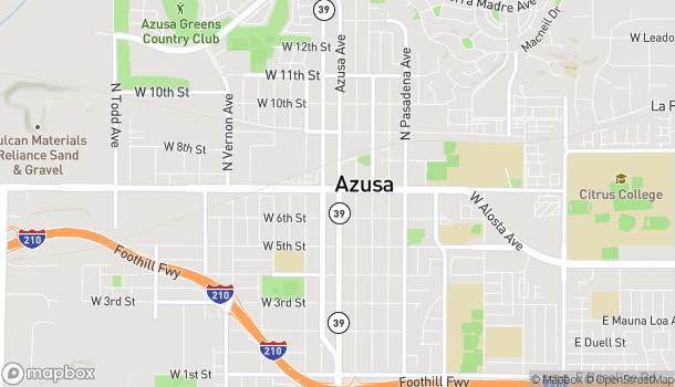 Map of 100 W Foothill Blvd in Azusa