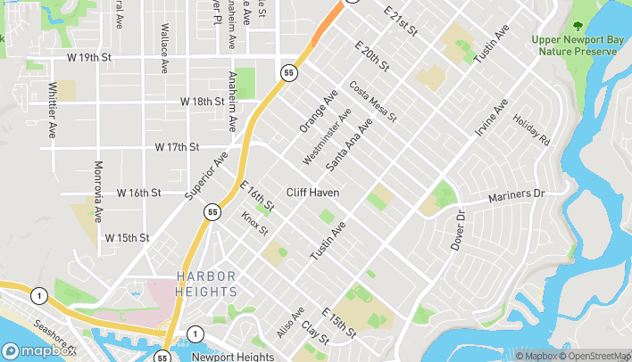 Map of 298 E 17th St in Costa Mesa