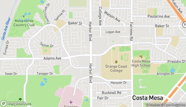 Mapa de 2800 Harbor Blvd en Costa Mesa