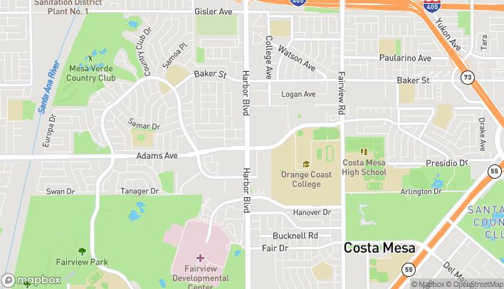 Map of 2800 Harbor Blvd in Costa Mesa