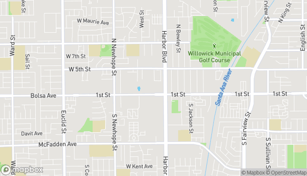 Map of 3839 W 1st Street in Santa Ana