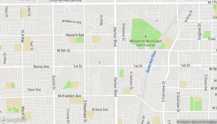 Mapa de 3839 W 1st Street en Santa Ana