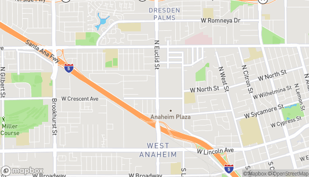 Map of 685 N Euclid St in Anaheim