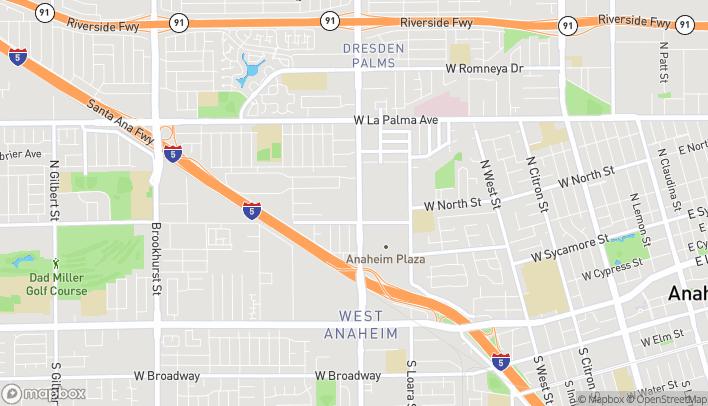 Mapa de 685 N Euclid St en Anaheim