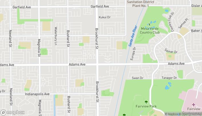 Map of 10035 Adams Ave in Huntington Beach