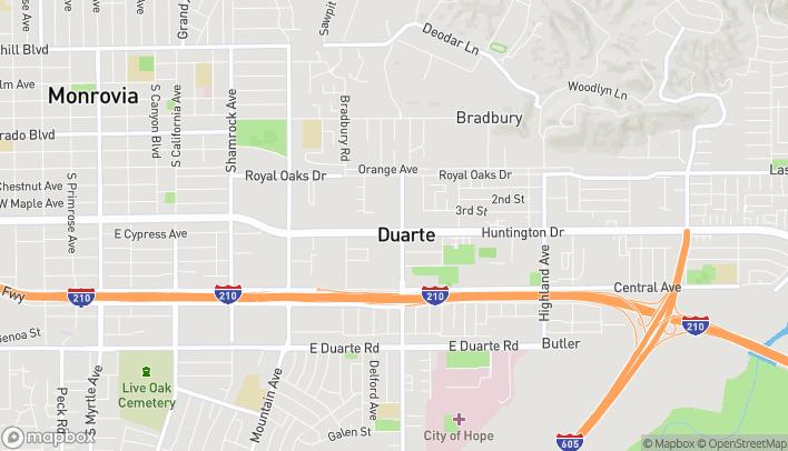 Map of 1243 Huntington Drive in Duarte