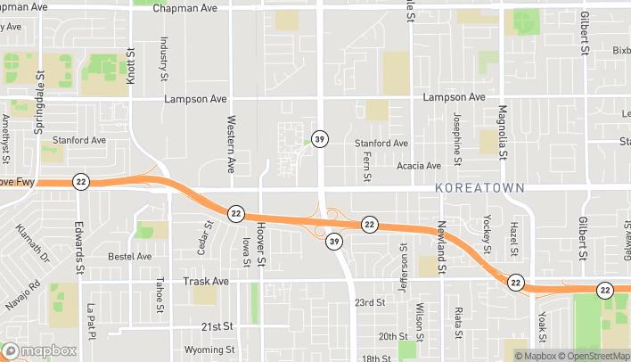 Mapa de 12979 Beach Boulevard en Stanton