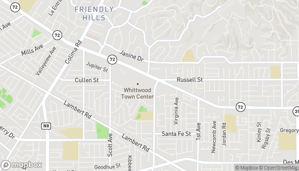 Map of 15714 Whittwood Ln in Whittier