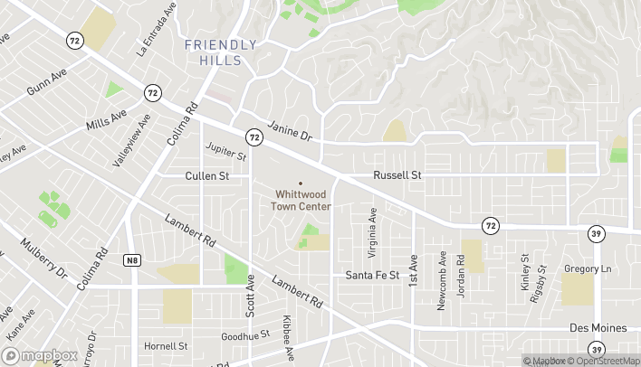 Mapa de 15714 Whittwood Ln en Whittier