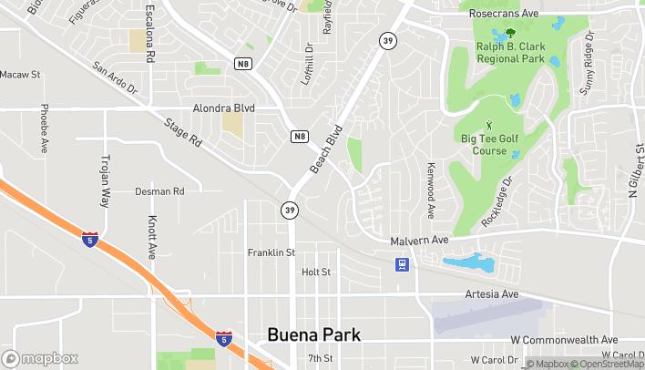 Map of 5422 Beach Blvd in Buena Park