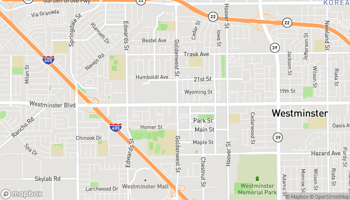 Map of 6777 Westminster Blvd in Westminster