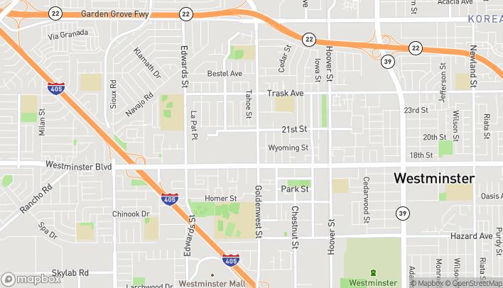 Mapa de 6777 Westminster Boulevard en Westminster