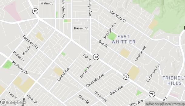 Mapa de 13809 E Whittier Blvd en Whittier