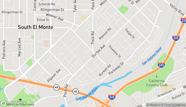 Mapa de 1961 Durfee Ave en South El Monte