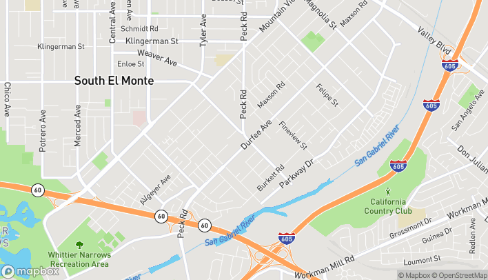 Map of 1961 Durfee Ave in South El Monte