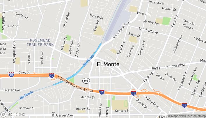 Mapa de 10761 Valley Blvd en El Monte