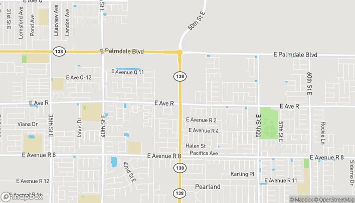Mapa de 38003 47th St E en Palmdale