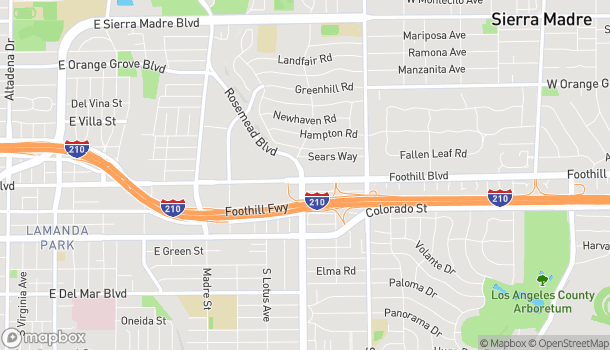 Map of 3699 E Foothill Blvd in Pasadena