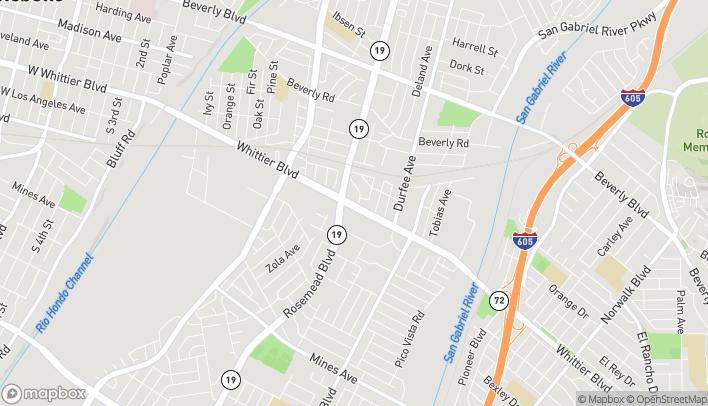 Map of 9077 Whittier Blvd in Pico Rivera
