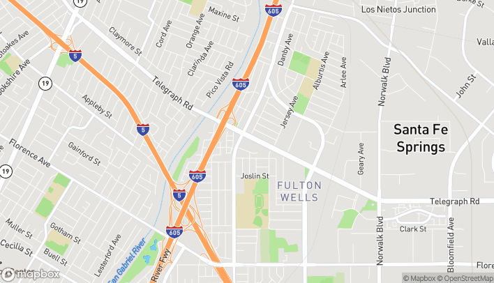 Mapa de 11462 Telegraph Road en Santa Fe Springs
