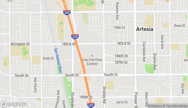 Mapa de 276 Los Cerritos Center en Cerritos