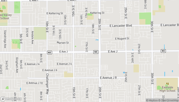 Map of 1721 E Ave J in Lancaster