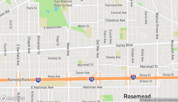 Map of 140 W Valley Blvd in San Gabriel