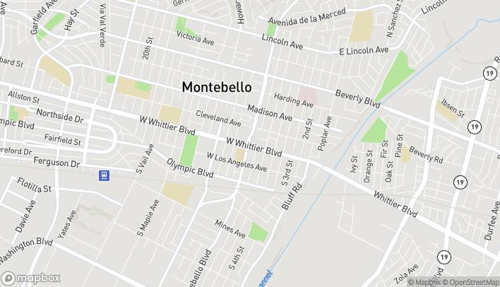Map of 720 Whittier Boulevard in Montebello