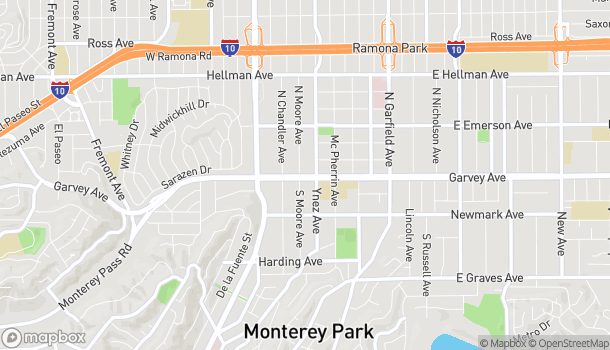 Map of 541 W Garvey Ave in Monterey Park