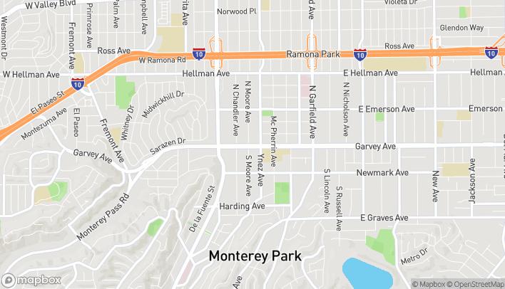 Mapa de 541 W Garvey Ave en Monterey Park