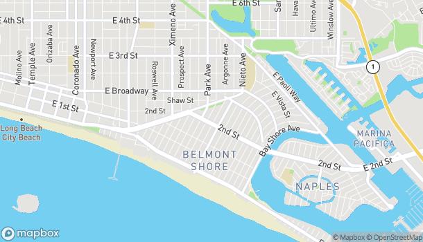Mapa de 4917 E 2nd St en Long Beach