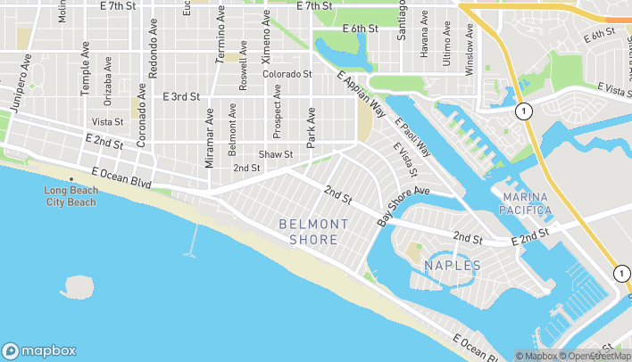 Map of 4917 E 2nd St in Long Beach