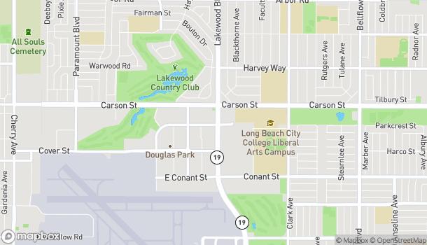 Map of 4001 Lakewood Blvd in Long Beach