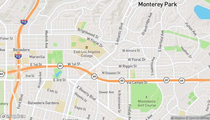 Mapa de 2200 S Atlantic Blvd en Monterey Park