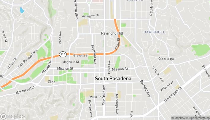 Map of 712 Fair Oaks Ave in South Pasadena