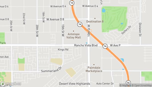 Map of 1201 W Rancho Vista Blvd in Palmdale