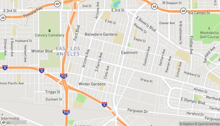 Mapa de 5057 Whittier Blvd en East Los Angeles