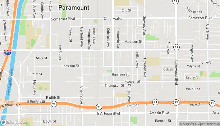 Map of 16279 Paramount Boulevard in Paramount