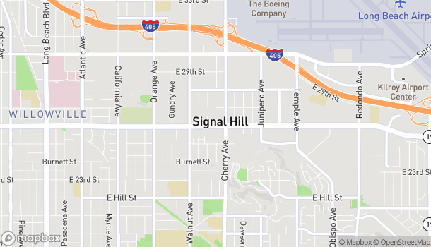 Map of 1899 E Willow St in Signal Hill