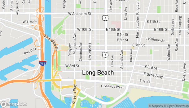 Mapa de 515 Pine Ave en Long Beach
