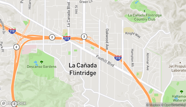 Map of 895 Foothill Blvd in La Canada