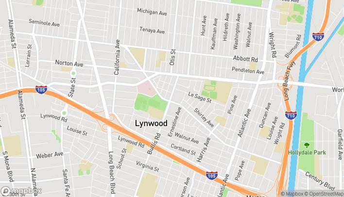 Mapa de 3801 Martin Luther King Jr. Blvd en Lynwood
