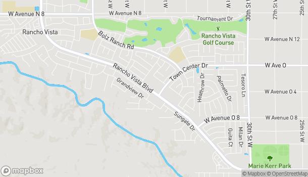 Map of 3869 W Rancho Vista Blvd in Palmdale