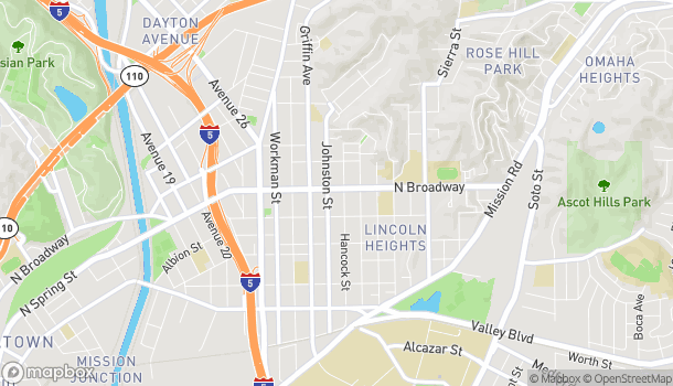 Map of 3016 N Broadway in Lincoln Heights